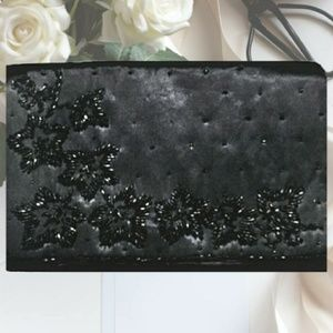SALE  Vintage La Regale Beaded Satin Clutch